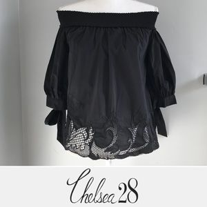 CHELSEA28 Off the Shoulder Lace Top